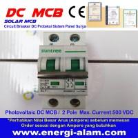63A 2 Pole 550V DC PV MCB Solar Mini Circuit Breaker PV Panel Surya
