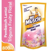 Pembersih Lantai Mr. Muscle Axi Triguna Fruity Floral 800 ml