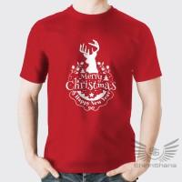 Kaos Natal Merry Christmas Tahun Baru Unisex Cewek Cowok ShinnShana