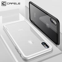 Cafele Premium Iphone X 10 Ten TPU + Tempered Glass Cover (WHITE)