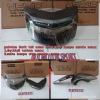 mika stop lampu smoke paket ducktail carbon yamaha nmax merek nemo