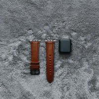 Apple Watch Leather Strap Handmade Padded Series Walnut