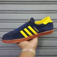 Sepatu Adidas Hamburg Navy Yellow Biru Kuning Sneakers Terlaris Murah