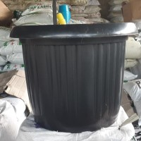 pot bunga plastik hitam GRACE 45cm