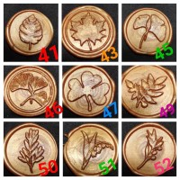 Seal wax stamp motif FLORA ready stock lilin segel stempel sealing
