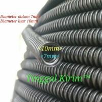 selang fleksibel belah 7mm untuk membungkus / merapihkan macam2 kabel