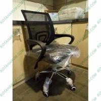 kursi kantor admin hitam sandaran jaring kaki besi murah berkualitas