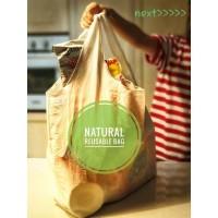 tas Jumbo Natural Reusable Bag baggu blacu