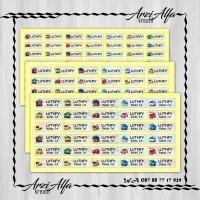 Stiker Label Nama Waterproof - Sticker anti air Tayo The Little Bus