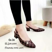 sepatu kerja high heels wanita lv hs102 murah replika