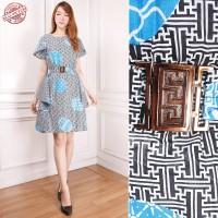 MURAH Dress Midi Batik Kulla Short Dress Wanita
