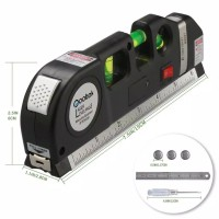 Multipurpose Level Laser Horizon Vertical Measure Tape 8FT Aligner Bub