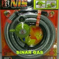 Selang paket regulator gas nis anti bocor