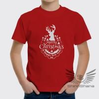Kaos Anak Natal Merry Christmas Unisex Cewek Cowok Premium ShinnShana