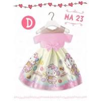 DRESS ANAK IMPOR PINK HELLO KITTY MA23D