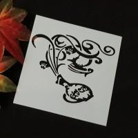 Stencil Magical Jar - Stensil Cetakan Lukis Cake Craft Scrapbooking