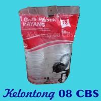 Gelas Plastik Bening Ukuran 12 Oz Wayang Per Pak Isi 50 Pcs