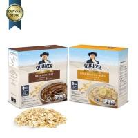 Quaker Instant Oatmeal Cokelat & Pisang Madu Box 4s - 2 Pcs FS
