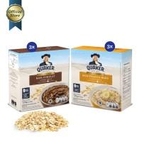 Quaker Instant Oatmeal Cokelat & Pisang Madu Box 4s - 6 Pcs FS