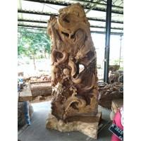 Patung Relief Pertarungan Naga Dekorasi Ruangan - Tinggi 260cm