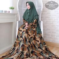 Baju Busana Muslim Gamis Syari Pesta Wanita Monalisa Army Terbaru