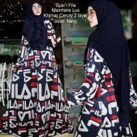 Baju Muslim Gamis Syari Pesta Wanita Maxmara Lux Fila Terbaru