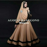 Baju Busana Muslim Gamis Syari Pesta Wanita Jersey Mayya Terbaru