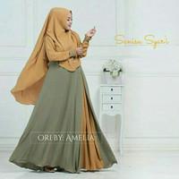 Baju Busana Muslim Gamis Syari Pesta Wanita Jersey Sanisa Terbaru