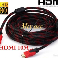 KABEL HDMI 10M SERAT JARING HDMI TO HDMI 10 m 1080P V1.4 3D HQ