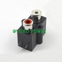 Socket RCA AV 2 PIN 2P Terminal body PCB AR07