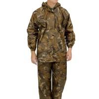 Jas Hujan Setelan Baju Celana Loreng Army 2M Jaket Rain Coat Coklat
