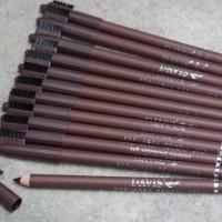 Pensil Alis Davis Coklat + Sikat