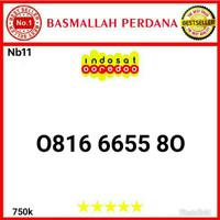 Nomor Cantik IM3 10 Digit Seri Aabb 6655 0816 6655 80 Nb11