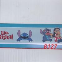 B127 Wall Border Sticker Lilo and Stitch - Wallpaper Dinding