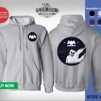 Jaket Sweater Zipper Band MARSHMELLO 414
