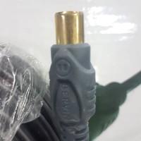 Bervin BAC-10RG6 Kabel Antena TV 10M - Jack TV Kuningan - Jack F Karet