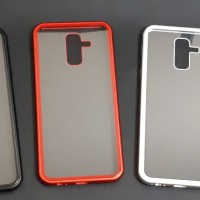 Samsung galaxy a6 plus Premium 2 in 1 magnetic phone case -Transparant