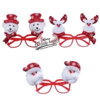 kacamata natal frame merah / Bando Christmas / Aksesoris Natal santa