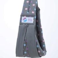 Gendongan Bayi Baba Slings ORIGINAL Baby Carrier Dot Pink Grey