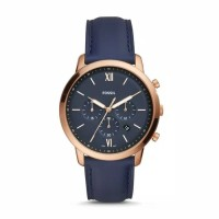 Fossil Neutra Chronograph Navy Leather FS5454