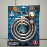 Regulator Winn Gas + selang ukuran 1,8 m