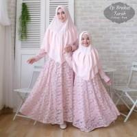 Baju Busana Muslim Gamis Syari Pesta Couple Ibu dan Anak Brukat Tarah