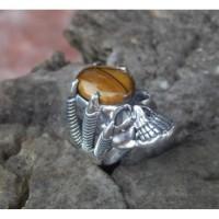 Gagang cincin motif tengkorak tanpa batu