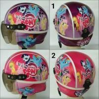 helm anak sinchan karakter printing motif little pony