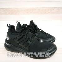 sepatu adidas alphabounce full black sneakers running made in vietnam