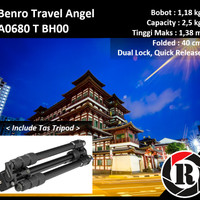 Benro Pro Alumunium Travel Tripod - A0680TBH00 Angel Kits Portable