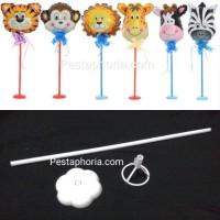 Stik Balon Foil Set u/ Hiasan Meja / Table Base Balloon Stick Set