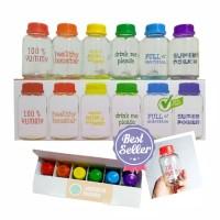 Botol Kaca ASI Rainbow color Baby Pax - Isi 6 botol
