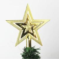 10CM bintang top star dekorasi wire pohon natal aksesoris gantungan