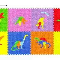 Matras Puzzle Evamat / Karpet / Alas Lantai - Gambar Dinosaurus Dino